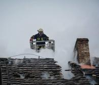 Płonął dach w Kamieniu Wielkim